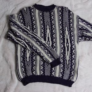 Vintage Benetton Shetland Wool Sweater- Patterned